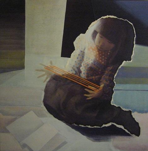 樋田洋子作品「冬の遊び」